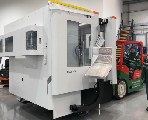 A brand new Mikron 5 axis machine