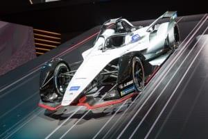 Photo of a Formula e car