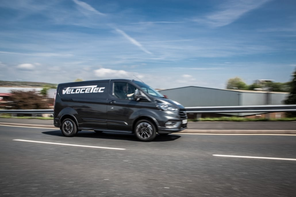 Photo of the Velocetec branded Ford Transit Custom Sport